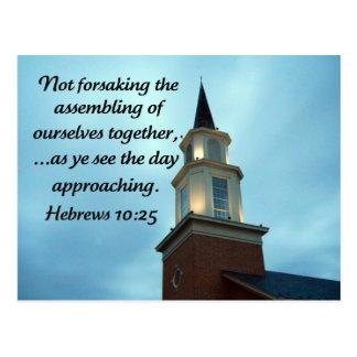 Hebrews 10:25 postcard