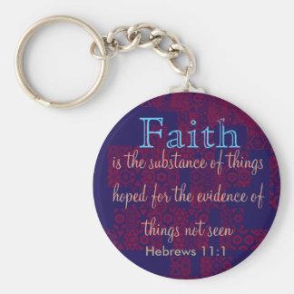 Hebrews 11:1 Keychain