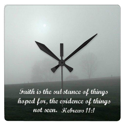 Hebrews 11:1 wall clocks