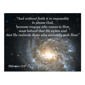 Hebrews 11:6 Christian Scripture Memory Card
