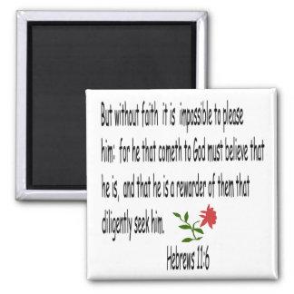 Hebrews 11:6 magnet