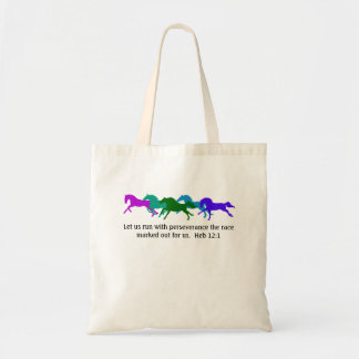 Hebrews 12:1 Horses Tote Bag