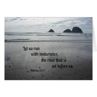 Hebrews 12:1 Let us run with endurance... Card