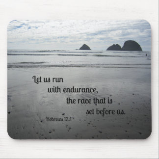 Hebrews 12:1 Let us run with endurance... Mouse Pad