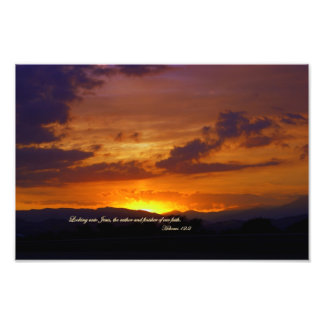 Hebrews 12:2 The Author and Finisher of our faith. Photo Print