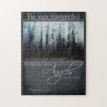 Hebrews 13:2 Angel Quote Jigsaw Puzzle