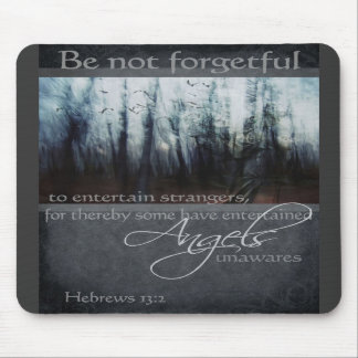 Hebrews 13:2 Angel Quote Mouse Pad