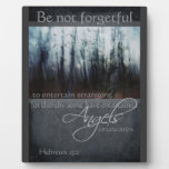 Hebrews 13:2 Angel Quote Photo Plaques