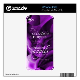 Hebrews 13:2 iPhone 4S skins