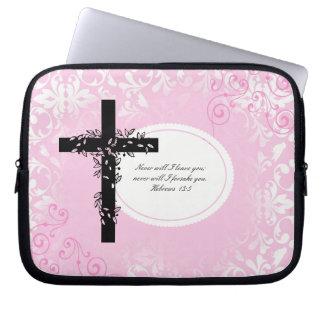 Hebrews 13:5 Laptop or Netbook Carrier Sleeve Laptop Computer Sleeve