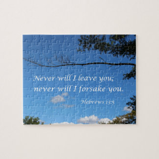 Hebrews 13:5 Never will I leave you Jigsaw Puzzle