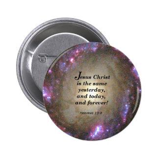 Hebrews 13:8 2 inch round button