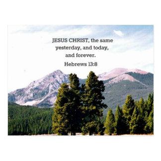 Hebrews 13:8 postcard