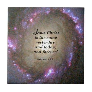 Hebrews 13:8 small square tile