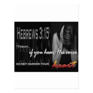 Hebrews 3:15 postcard
