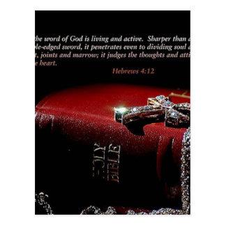 Hebrews 4:12 postcard