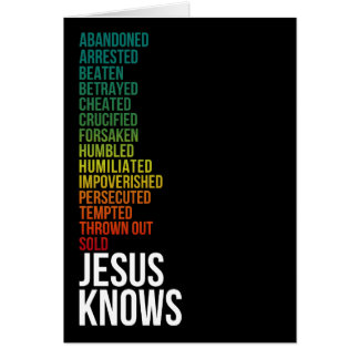 Hebrews 4:15 - Jesus Knows Card