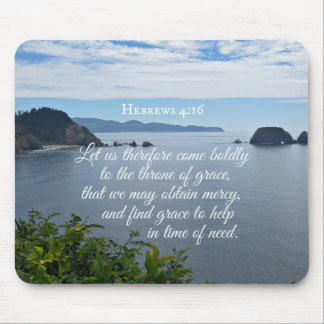 Hebrews 4:16 Let us therefore come boldly to the Mouse Pad