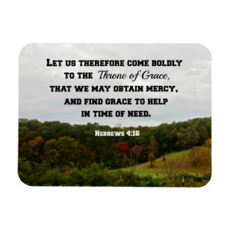 Hebrews 4:16 Let us therefore come boldly to the Rectangular Photo Magnet