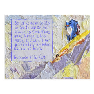 Hebrews 4:16 postcard