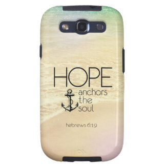 Hebrews 6 19 Hope anchors the soul Galaxy S3 Covers