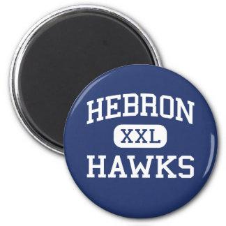 Hebrón Hawks la escuela secundaria Hebrón Indiana Imanes Para Frigoríficos