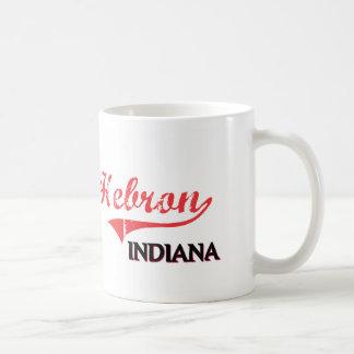Hebron Indiana City Classic Classic White Coffee Mug