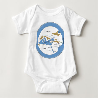 Hecataeus world map - Old world map Baby Bodysuit