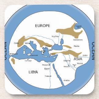 Hecataeus world map - Old world map Coaster