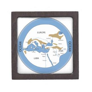 Hecataeus world map - Old world map Keepsake Box