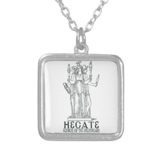 Hecate Square Pendant Necklace