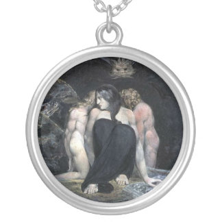 Hecate or the Three Fates Silver Plated Necklace