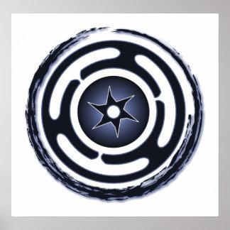 Hecate's Wheel (Blue) Print