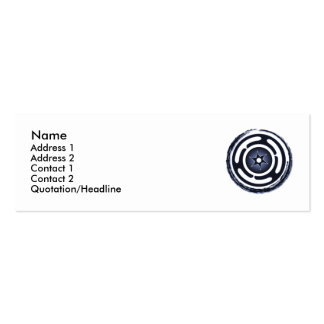 Hecate's Wheel (Blue) Profile Cards Mini Business Card