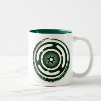 Hecate's Wheel (Green) Mugs
