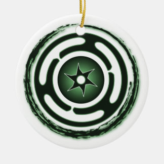 Hecate's Wheel (Green) Ornaments
