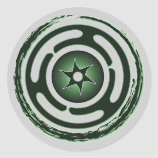 Hecate's Wheel (Green) Stickers
