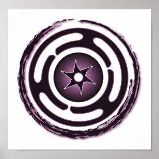 Hecate's Wheel (Purple) Print