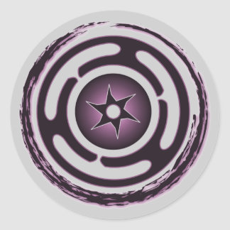 Hecate's Wheel (Purple) Stickers
