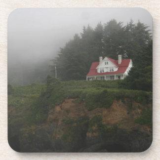 Heceta Head fog & Forest Drink Coasters
