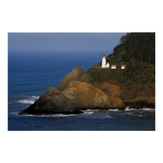 Heceta Head Lighthouse, Cape Creek, Oregon, USA Poster