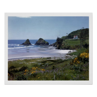 Heceta Head, Oregon Vintage Poster