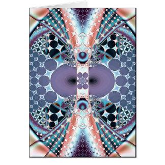 hechicería del fractal tarjeta de felicitación