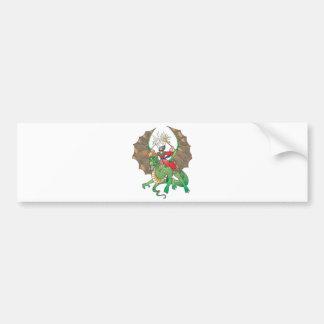 hechicero mágico del dragón etiqueta de parachoque