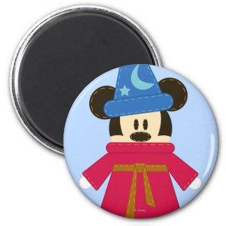 Hechicero Mickey Mouse de Pook-a-Looz Imán Redondo 5 Cm