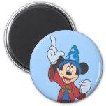 Hechicero Mickey Mouse Imán Redondo 5 Cm