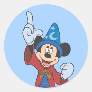 Hechicero Mickey Mouse Etiquetas Redondas