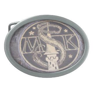 Hechiceros del sheld mágico del reino hebillas de cinturon ovales
