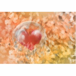 Hechizo de corazón fotoescultura vertical