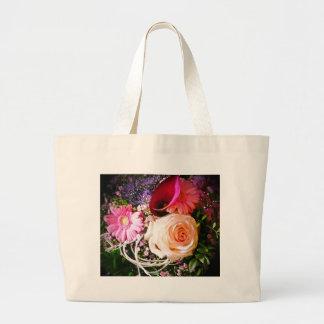Hechizo de flor bolsa tela grande